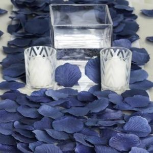 Navy Silk Rose Petals